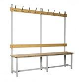 banc metal bois simple face 2000 mm