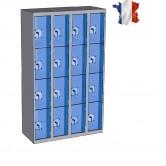 casier plexi 4 colonnes 16 portes 1200 mm