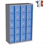 casier plexi largeur 1200 mm 4 colonnes 20 cases
