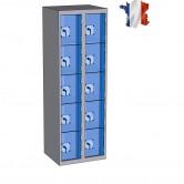 casier plexi 2 colonnes 10 portes largeur 600 mm