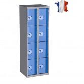 casier plexi 2 colonnes 8 portes 600 mm