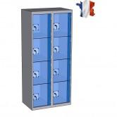casier plexi 2 colonnes 8 portes largeur 800 mm