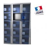 casier plexi 3 colonnes 15 portes largeur 900 mm