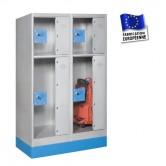 casiers consignes plexi hauteur 1200 mm 2 colonnes 4 portes