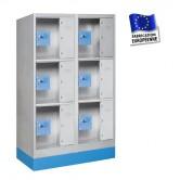 casiers consignes plexi 2 colonnes 6 portes hauteur 1200 mm