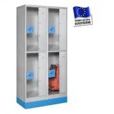 casiers consignes plexi hauteur 1600 mm 2 colonnes 4 portes