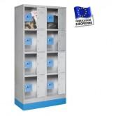 casier consigne plexi hauteur 1600 2 colonnes 8 portes