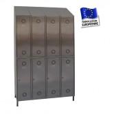 casier inox 4 colonnes 8 portes largeur 1200 mm