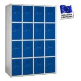 casier metallique en kit 4 colonnes 16 portes 1000 mm