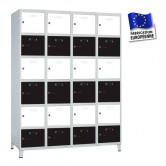 casier metallique 4 colonnes 24 portes 100 mm kit monté
