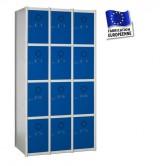 casier metallique en kit 3 colonnes 12 portes 1050 mm