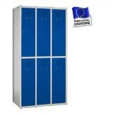 casier vestiaire métallique 3 colonnes 6 portes largeur 1050 mm