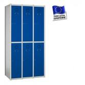 casier metallique 3 colonnes 6 portes largeur 1200 mm kit