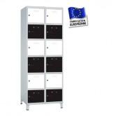 casier metallique 2 colonnes 12 portes 500 mm kit monté