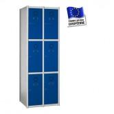 casier métallique en kit largeur 500 mm 2 colonnes 6 portes