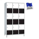 casiers métalliques 750 mm 3 colonnes 18 portes kit monté