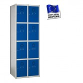 casier metallique 2 colonnes 8 portes kit 800 mm