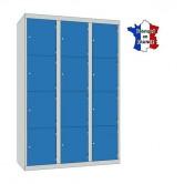 casier metallique 3 colonnes 12 portes