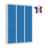 casier metallique 3 colonnes 9 portes largeur 1200 mm