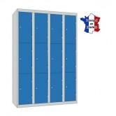 casier vestiaire 4 colonnes 12 portes largeur 1200 mm