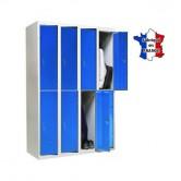 casier metallique sport 4 colonnes 8 portes stock