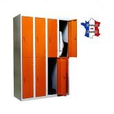 casier metallique 4 colonnes 8 portes largeur 1200 mm