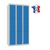 casier métallique 3 colonnes 9 portes largeur 900 mm