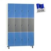 casiers bois mélaminé largeur 1200 4 colonnes 12 portes