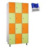 casier stratifié compact 3 colonnes 12 portes largeur 1200 mm