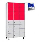 casiers phenolique stratifié compact largeur 1200 mm 3 colonnes 24 cases