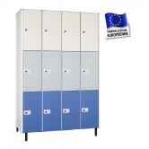 casier phenolique 4 colonnes 12 portes largeur 1200 mm