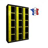 casiers plexi 3 colonnes 15 portes largeur 1200 mm