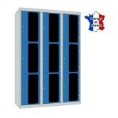 casier plexi 1200 mm 3 colonnes 9 portes