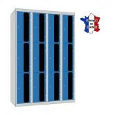 casier plexi 4 colonnes 12 portes 1200 mm