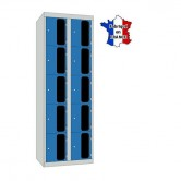 casiers plexi 2 colonnes 10 portes largeur 600 mm