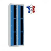 casiers plexi 2 colonnes 6 portes 600 mm