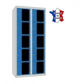 casier métal plexi 2 colonnes 10 portes largeur 800 mm