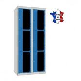 casier plexi 2 colonnes 6 portes 800 mm