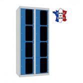 casiers plexi 2 colonnes 8 portes largeur 800 mm