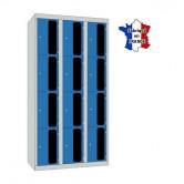 casier metallique 3 colonnes 12 portes 900 mm
