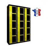 casiers plexi 3 colonnes 15 portes largeur 900 mm