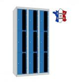 casier plexi 3 colonnes 9 portes 900 mm