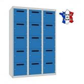 casier metallique professeur largeur 1200 3 colonnes 15 portes