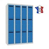 casier metallique professeur largeur 1200 mm 4 colonnes 12 portes