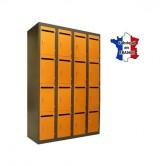 casier metallique prof fente boite lettres largeur 1200 4 colonnes 16 cases