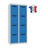 casier métallique professeur l800 2 colonnes 8 portes