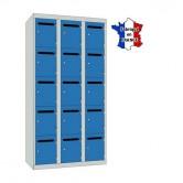 casier professeur metallique largeur 900 mm 3 colonnes 15 portes
