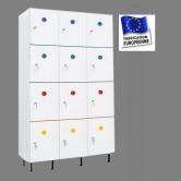 casier vestiaire plastique pvc 3 colonnes 12 portes largeur 1200 mm