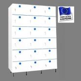 casier vestiaire plastique pvc 3 colonnes 18 portes largeur 1200 mm