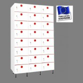 casiers plastique pvc 3 colonnes 24 portes largeur 1200 mm